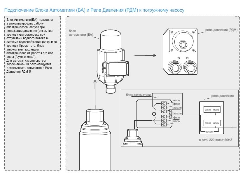 Схемы подключения насосов автоматики к гидроаккумулятору